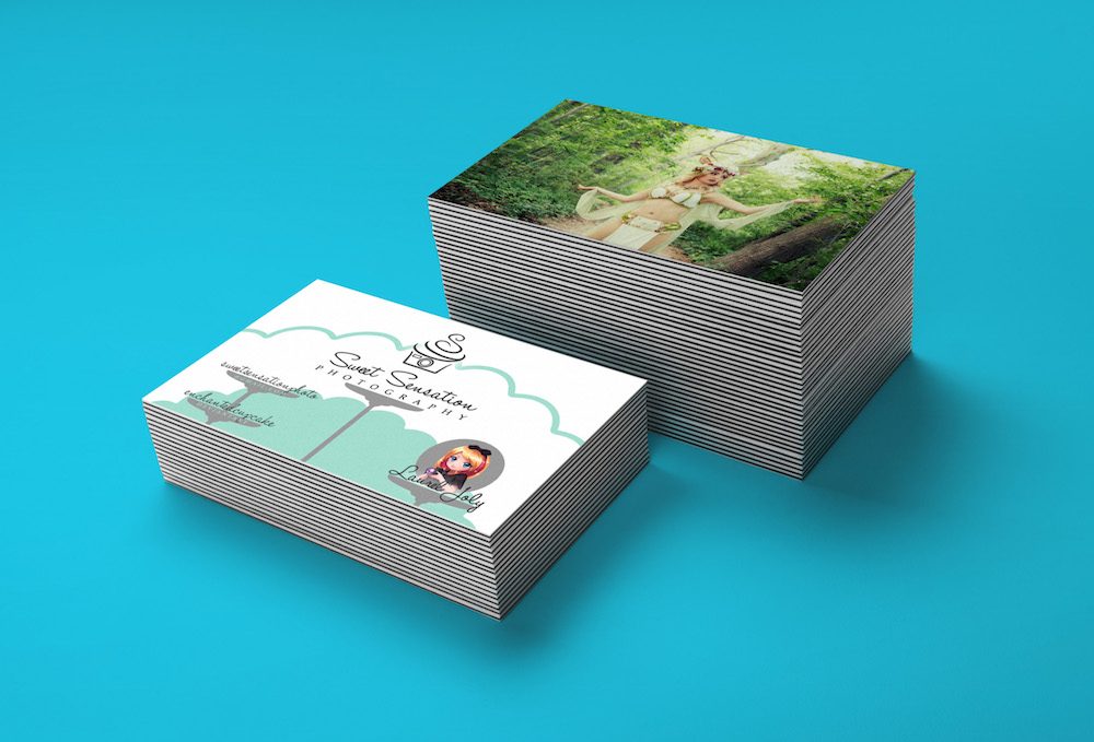 Sweet Sensation Photography business cards