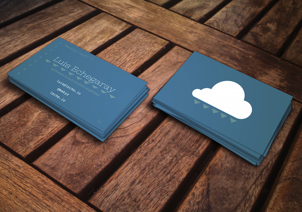 Luis Echegaray business cards